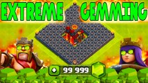 Clash Of Clans - EXTREME! $2600 IN GEMS! Gemming to MAX BASE _FUNNY MOMENTS + MAX LVL DEFENSES_