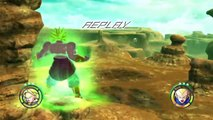 Dragonball Raging Blast 2 - LSSJ Broly vs SSJ2 Vegeta / SSJ3 Vegeta vs LSSJ Broly