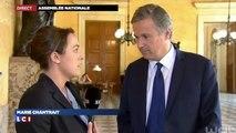 Depuis l'Assemblée Nationale, Nicolas Dupont-Aignan réagit à l'adoption par le 49.3 de la loi Macron.