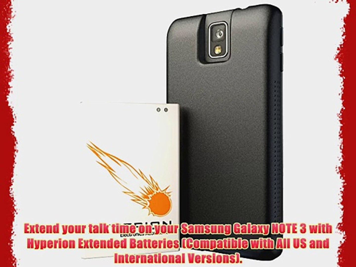 the best attitude c3eb0 134d9 Hyperion Samsung Galaxy Note 3 9600mAh Extended Battery Back TPU Cover  (Compatible with Verizon