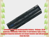 Compaq 593553-001 Laptop Battery - New TechFuel Professional 9-cell Li-ion Battery