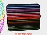 Designer Sleeves Retro Stripes Sleeve for 17-Inch Laptop Red (17DS-RS)