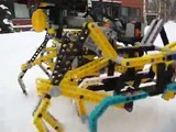 Lego walking machine on snow