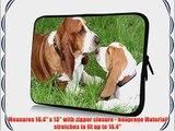 17 inch Rikki KnightTM Basset Hound Puppies Design Laptop Sleeve