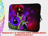 17 inch Rikki KnightTM Purple and Red Spring Pansy Flowers Design Laptop Sleeve