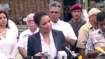 Roxana Baldetti - Gobierno apoyará a más de 2 mil 800 familias con reconstrucción de viviendas