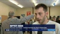 Baptiste Bauza, nouveau Secrétaire de la section du Havre du PCF (France 3 & France Bleu Haute-Normandie)