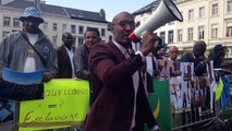Speech at demonstration against arbitrary arrests of anti-slavery activists in Mauritania