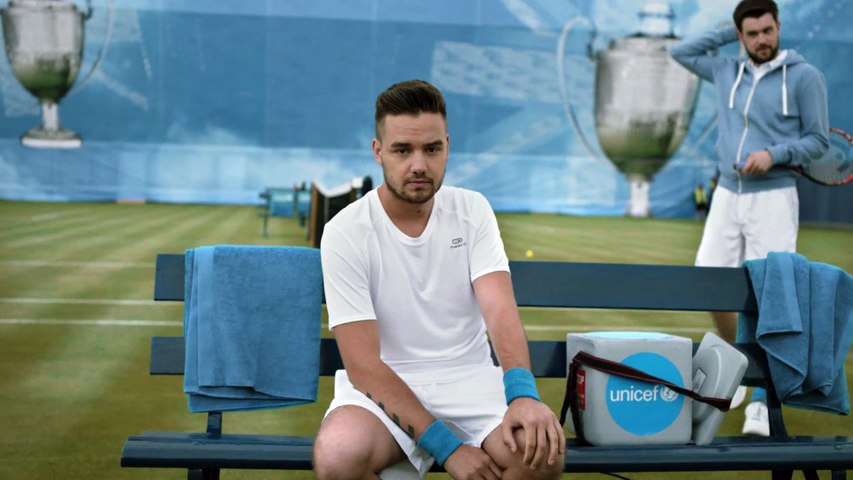 Andy Murray and Liam Payne team up at Queens Club to help Unicef beat disease
