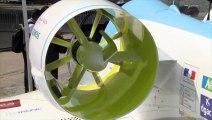 L'avion électrique d'Airbus E-Fan vole au Salon du Bourget