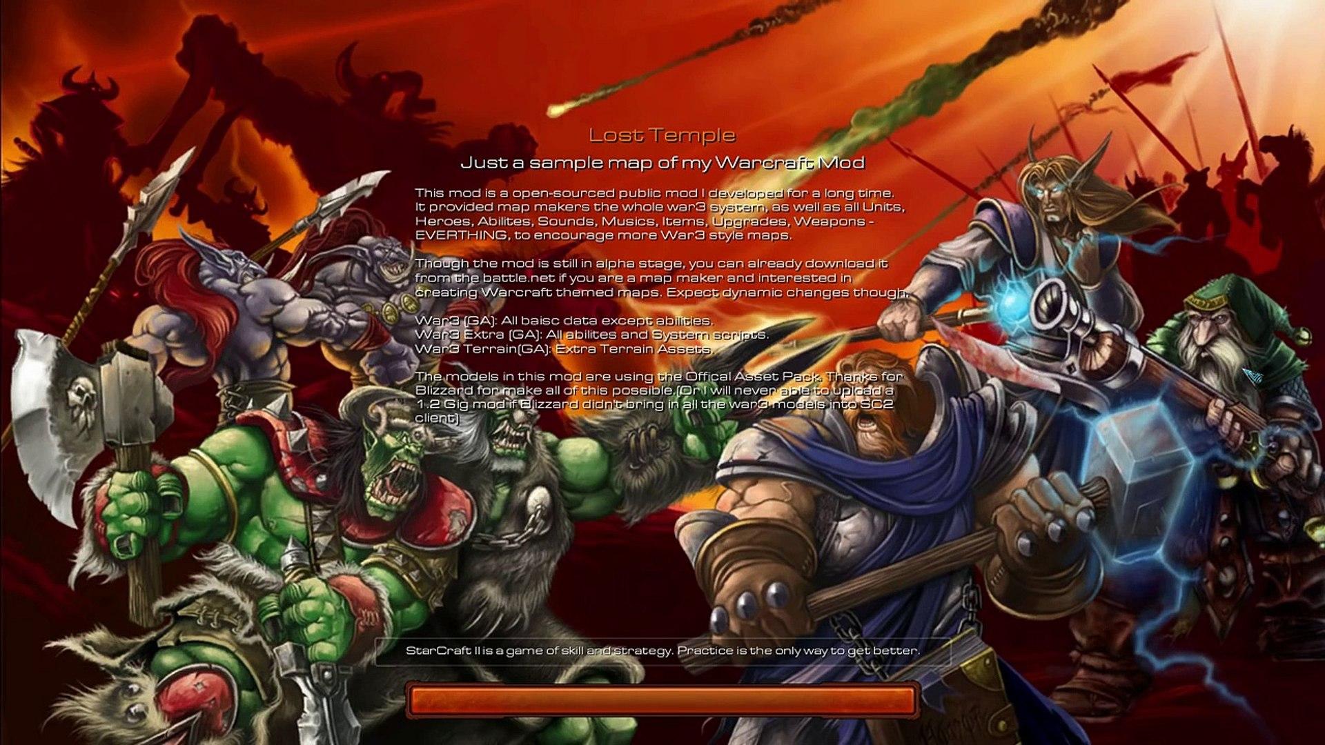 StarCraft II - Warcraft III Mod 2vs2 randomien kanssa