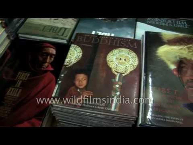 Shop selling religious book - Kathmandu, Nepal