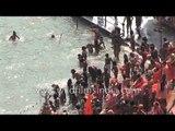 Naga Sadhus rush for 'Shahi Snan' : Kumbh Mela, Haridwar