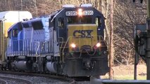 CSX Q217 Auto Carrier at Woodstock Road (Repaired) - OML