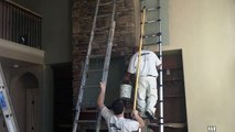 Painting High Walls and Ceilings.  How to paint tall walls,