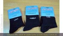 CASERTA, CASTEL VOLTURNO   STOCK DI CALZINI UOMO A 0,50 L EURO 1