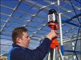 Rotation laser level Agatec LT300 at construction site.mpg