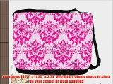 Rikki KnightTM Shabby Chic Hot Pink Damask Messenger Bag - Shoulder Bag - School Bag for School
