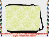Rikki KnightTM Shabby Chic Green on Green Damask Messenger Bag - Shoulder Bag - School Bag