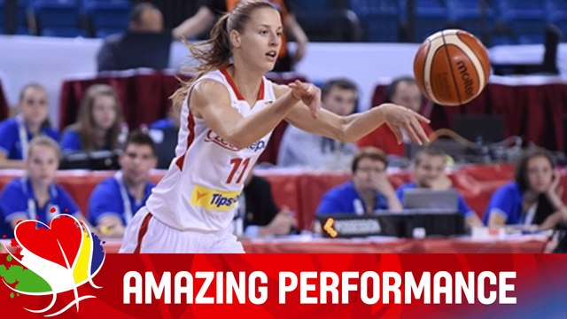Katerina Elhotova (CZE) - Amazing Performance v Belarus - EuroBasket Women 2015