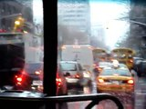 Rain and Hail  in New York City