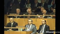 Mahmoud Abbas launches UN Palestine statehood bid