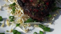 WASABI STEAK - Steak Grilled Caveman Style - How to grill a caveman steak