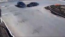 CCTV Shows Man Survive Horror Smash in Turkey