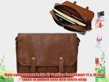 Duzign Rover Messenger Bag (Light Brown) for HP Pavilion TouchSmart 11   Pocket for 10 Inch