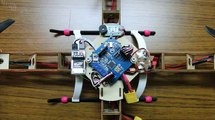 Hobbyking Super Mini Quadcopter Frame with Motors (445mm) Vol.22 indoor test flight