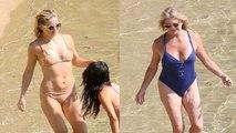 Goldie Hawn & Kate Hudson Flaunt Their Amazing Beach Bods in Greece