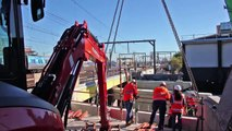 Regional Rail Link: Dudley Street construction works timelapse