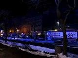 Die Neo-Postplatz-Baustelle bei Nacht