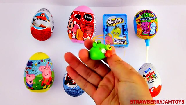 Spider Man Shopkins Kinder Surprise Chupa Chup Peppa Pig Minnie Mouse Surprise Eggs Strawb