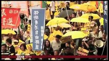 Yellow protest umbrellas return to Hong Kong streets - BBC News