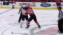 Chris Stewart vs Mark Fraser Jan 6, 2015