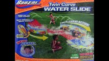 Cheap Banzai Twin Curve Water Slide Body Board Included Slickest