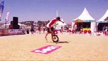 Sosh Free Style Cup : démonstration de BMX Flat par Mathias Dandois