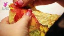 Nails Tutorial #77   Napkin Acrylic Nail Art Tutorial Video Nails