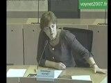 Voynet devant les élus régionaux Verts