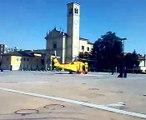 "Piazza Pieve - Elicottero ""Decollo"" - San Donato Milanese - Helycopter in SanDonatoMilanese"