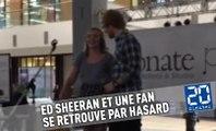 Ed Sheeran passe par hasard et rejoint une fan qui chante sa chanson