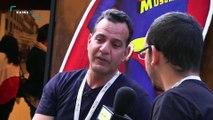 Rencontre  de l'équipe Kaina TV avec Ali GUESSOUM au cours du festival Arabesques