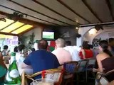 Watching Italy/Australia World Cup match in Positano Italy