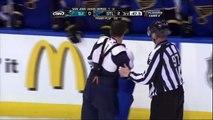 Alexander Steen vs Dan Boyle fight. San Jose Sharks vs St. Louis Blues 4/14/12 NHL Hockey