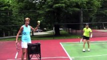 Junior Tennis Player Improves Serve with Lisa Dodson's Tennis Tips