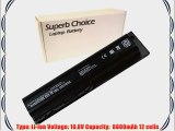 Superb Choice 12-cell Laptop Battery for HP G60-610CA G60-619CA G60-630US G60-630CA G60-633CL
