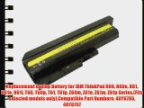 Replacement Laptop Battery for IBM ThinkPad R60 R60e R61 R61e R61i T60 T60p T61 T61p Z60m Z61e