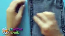 Possible Projects ► DIY Crafts BAGS recycled jeans very EASY Innova Crafts   Best Diy Craft Project