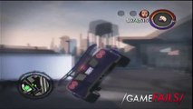 """Game Fails: Saints Row 2 """"Thats why we put screens on windows... keep the cars out"""""""